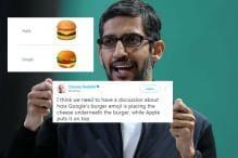 Sundar Pichai Will 'Drop Everything Else' Today To Get Google's Burger Emoji Fixed