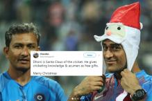 Dhoni's Santa Look Steals The Show As India Celebrates Victory Over SL