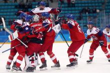 Czechs Knock Frustrated USA Out of Olympic Men's Hockey