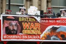 Royal Welcome and Noisy Protests Await Saudi Crown Prince Mohammed bin Salman on UK Trip