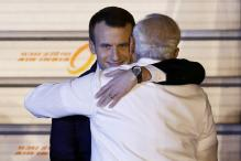 PM Modi Welcomes French President Macron With Trademark Hug; Talks on Defence, Nuclear Energy Today