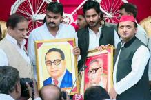 After Maya-Akhilesh Hoarding, Pictures of Ambedkar and Lohia Showcased at Samajwadi Party Conference