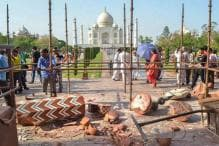 PICS: Minaret of Taj Mahal's Entry Gate Collapses in Thunderstorm