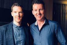 Brett Lee Meet Marvel's Doctor Strange Benedict Cumberbatch in Singapore