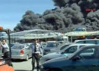Huge fire razes at Istanbul airport
