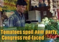 Tomatoes spoil Congress' party