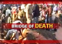 Bridge collapses over train, kills 34