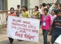 JU students harrased by cops, hit streets in protest