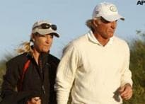 Norman third at British Open, thanks wife Chris Evert