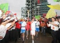 China-based Indian woman runs in Olympic torch relay