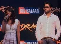<i>Drona</i> team hits Big Bazaar for big promotion