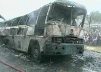 40 killed as bus catches fire in Uttar Pradesh