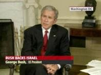 Bush blames Hamas, backs Israeli offensive in Gaza