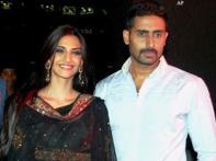 Abhishek, Sonam dazzle at <i>Delhi 6</i> promotion event