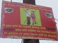Hoardings warn dating couples in Srinagar