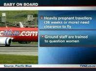 All in a flight:  She gave birth, abandoned and got away