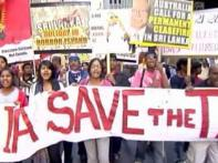 Tamils in Australia protest to boycott Lankan goods