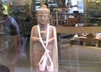 CJ Pic: Buddha statue used to display shoes