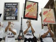 Demonstrations across Europe in support of Uighurs