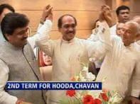 Watch: Hooda, Chavan get second term as CMs
