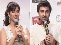 Watch: Ranbir, Katrina walk ramp for Rohit Bal