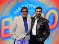 Big B is first guest on son's TV show