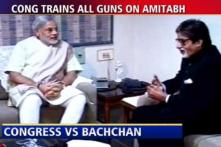 Cong targets Amitabh for links with Modi