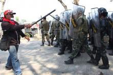 Thai protesters break into satellite station