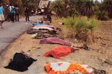 Naxals hit bus, 35 cops & civilians killed
