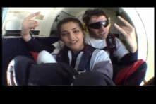 Sonam-Imran go sky diving