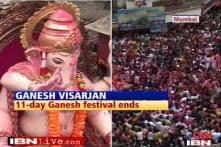 Mumbai bids farewell to Ganesha