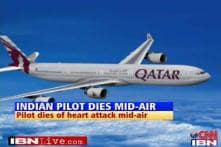 Indian pilot dies of heart attack mid air