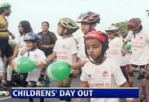 Children's Day celebrated on roller skates in Mumbai