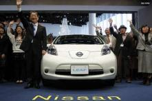 Nissan launches electric car Leaf in Japan