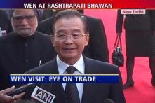 Chinese Premier Jiabao at Rashtrapati Bhawan