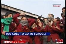 Kashmir students say no to school in harsh winter
