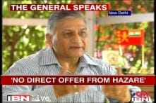 Have not received any offer from Anna Hazare: Gen VK Singh