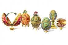 Peter Carl Faberge: Google doodles Easter eggs