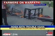 Land acquisition: Stone pelting in Gr Noida village