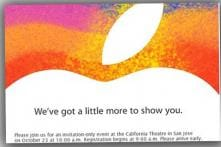 Apple confirms October 23 event, iPad mini expected