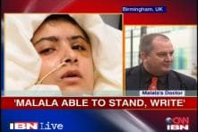 Malala able to stand, thanks supporters: Doctors