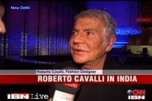Fashion designer Roberto Cavalli talks about India, sarees