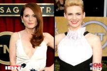 A look at the fashion quotient of Hollywood divas at the Screen Actors Guild Awards