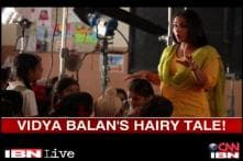 Vidya Balan lets her hair down during TV commercial shoot
