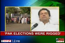 Pak polls: Nawaz Sharif set to win, Imran Khan alleges rigging