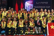 China crush Korea to retain Sudirman Cup title