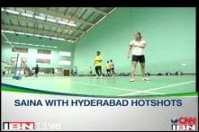 Saina Nehwal sold for 120,00 USD to Hyderabad at IBL auctions