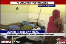 Dead lizard found in govt school's mid day meal; 76 children taken ill