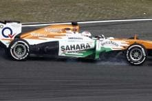 Force India's Young Diver Test continues in Silverstone