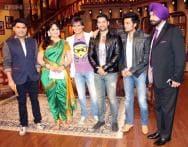 Vivek, Riteish, Aftab promote 'Grand Masti' on 'Comedy Nights with Kapil'